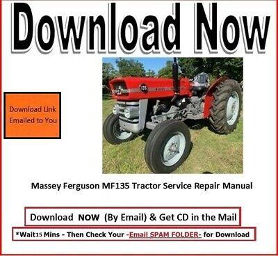Massey Ferguson 135 Mf135 Tractor Manual Set - Operator Repair Manual Cd