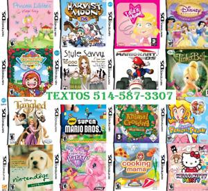 JEUX ds pour filles 3ds/2ds/xl/dsi mario kart bros lego