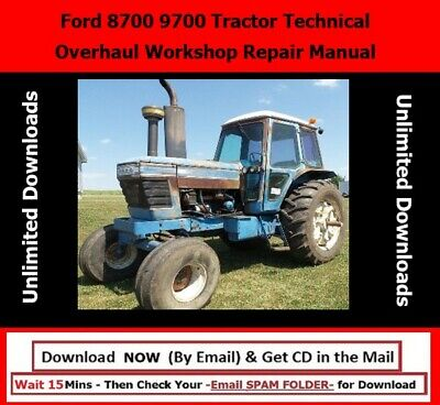 Ford 8700 9700 Tractor Technical Overhaul Workshop Repair Manual