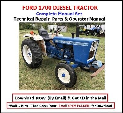 Ford 1700 Tractor Complete Manual Set -technical Shop Parts Operator Manual