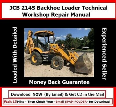 Jcb 214s Backhoe Loader Service Repair Manual Sn From 903000 Onwards