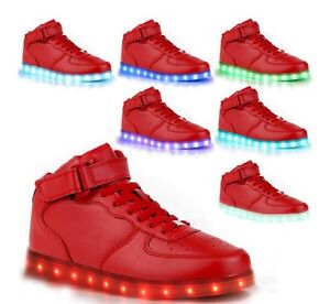 Red LED men's sneakers size 11-12 eu46