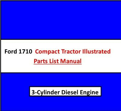Ford 1710 Compact Utility Tractor Illustrated Parts Catalog 3 Cylinder Diesel