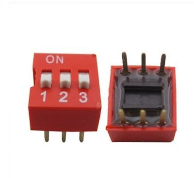 100pcs Switch Side Style Through Hole Pitch 3p 3 Position Dip 2.54mm Ic New Ma