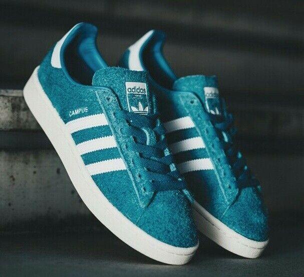 ADIDAS Originals Campus mens shoes trainers, BZ0070 bold aqua blue, suede