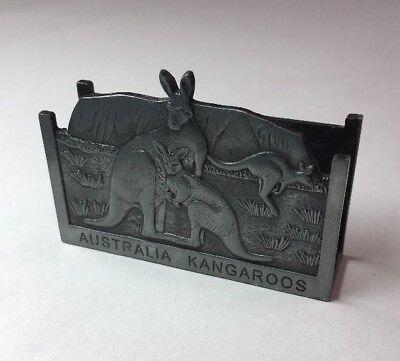 Vintage Australia Business Card Holder Kangaroos. 2-34x3-12x 1