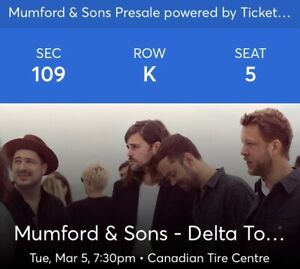 *100 level Mumford & Sons tickets!*