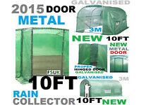 POLYTUNNEL WITH METAL DOOR 10FT X 7FT