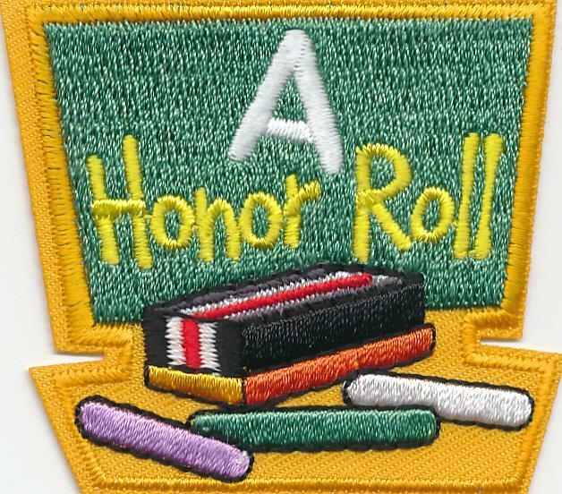 Girl Boy Cub HONOR ROLL Student Fun Patches Crests Badges SCOUTS GUIDES classes
