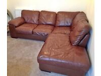 **QUICK SALE** Genuine Leather Sofa