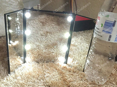 LED Light Illuminated Make Up Cosmetic Tabletop Beauty Vanity Mirror