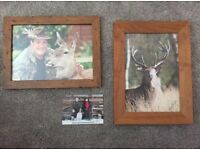 Johnny Kingdom signed photographs in frames and signed postcard
