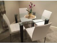 4 x CHAIRS & DINING TABLE - DWELL