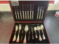 Arthur price cutlery set - 47 piece - baguette style