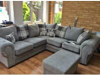BRAND NEW BARON CHESTERFIELD CORNER/3+2 SOFA AVAILABLE GREY IN STOCK ORDER NOW