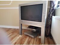 """Philips 34"""" tv with stand."""