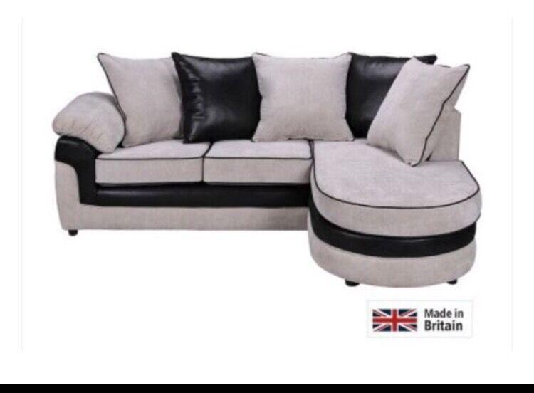 needs to go asap argos nebraska grey black corner sofa. Black Bedroom Furniture Sets. Home Design Ideas