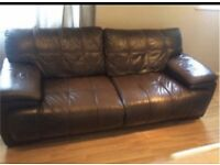 2 x 3 seater leather sofas can deliver