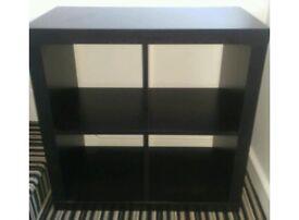 Dark brown cube storage