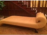 Gold S shape day bed/Chaise