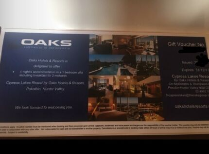 Cypress Lakes Accommodation & Breakfast Gift Voucher