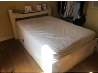 FREE DELIVERY IKEA BRIMNES WHITE DOUBLE BED AND MATTRESS