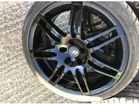 "18"" Alloy Wheels - immaculate fully refurbished wheels with 4 good branded tyres"