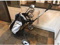 Mizuno Golf Clubs Bag and Trolley