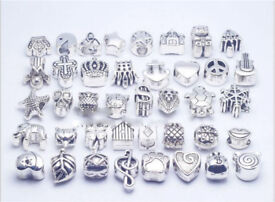 Beads silver plated charms Pandora