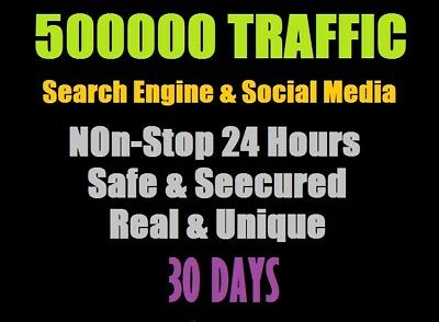 500000 Traffic Worldwide From Search Engine Social Media For Your Website Seo