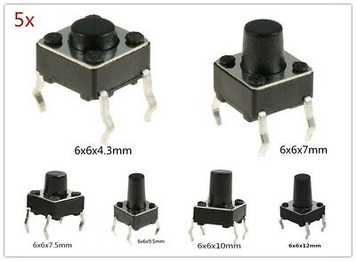 New 4.3-12mm Spst Small Mini Micro Momentary Tactile Push Button Switch 12v