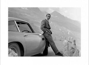James Bond 007 - Sean Connery Aston Martin Poster Kunstdruck (80x60cm) #43879
