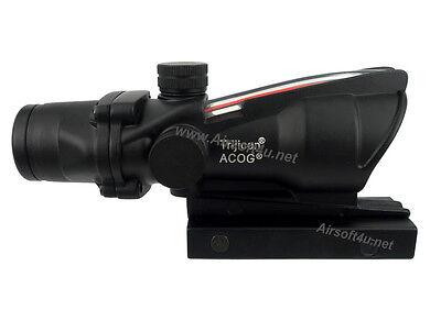 Real Fiber Optic RED illuminated 4x32 Rifle Scope BDC M.acog.raf reticle AR AEG