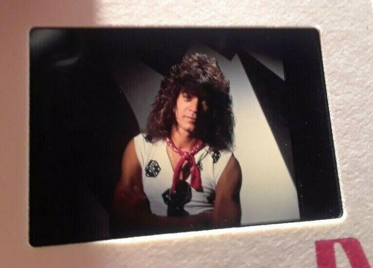 """Eddie Van Halen Guitar """"Portrait"""" Never Published Pro Slide Photo make poster"""