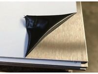 1 x 1000 x 2000 Stainless Steel Sheet A304 brushed, Laser Film protected