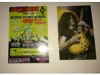 Signed flyer of Slash of guns n roses autograph
