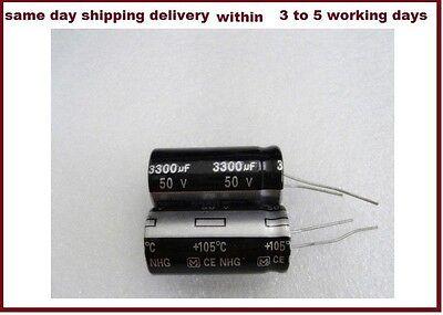 15pcs 3300uf 3300mfd 50v Electrolytic Capacitor 105c