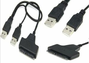 For Sell SATA 7+15 22 Pin USB 2.0 Adapter Cable For 2.5 HDD Lapt