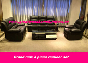 3 PIECE RECLINER SET WITH ROCKING CHAIR..$1099