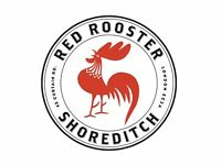 Waiters Required - BRAND NEW OPENING - Red Rooster Shoreditch- up to £11 p/h
