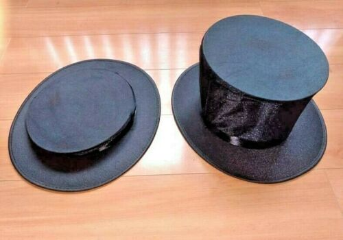 TOP HAT COLLAPSIBLE FOLDING MAGICIAN DANCER PERFORMER with HIDDEN COMPARTMENT
