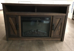 "Unbelievable Deal for a 48"" Barn Door Fireplace Media Console"