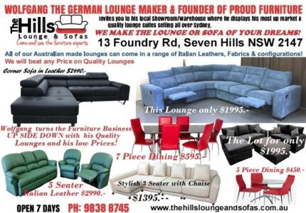 Wide Range of Lounge & sofas available Seven Hills Blacktown Area Preview
