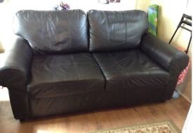 black sofa bed/bed settee