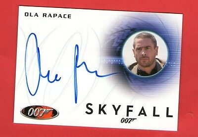James Bond Archives 2014 Autograph Card:  A238 Ola Rapace