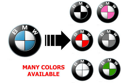 BMW Emblem Overlay Sticker Decal ---- Fits All Models!!