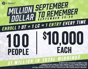 $1,000,000 to 100 people!
