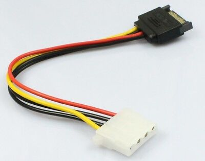 High Quality 15 Pin SATA Male to 4 Pin Molex Female IDE  Power Hard Drive - Ide Hard Drive Cable Select