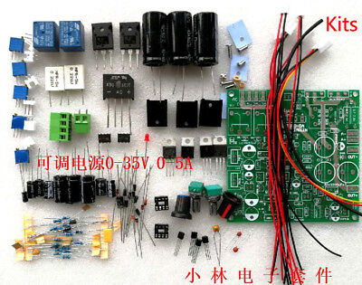 Continuously Adjustable Dc-dc Regulated Power Supply Diy Kit 0-35v 0-5a