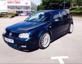 Vw golf mk4 r32 replica 150 bhp upgraded injectors r32 full kit exhaust front back side skirts offer